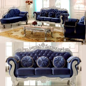 Living Room Furniture with Fabric Sofa and Wood Table (929TA) pictures & photos