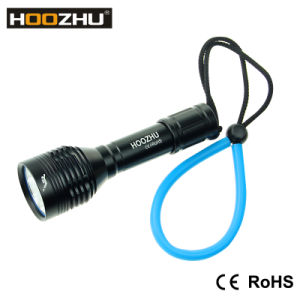 Hoozhu Waterproof 100m Max 900 Lumens LED Flashlight for Diving pictures & photos