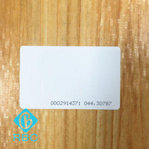 PVC RFID Tk4100 Contact Chip Card with Serial Number pictures & photos