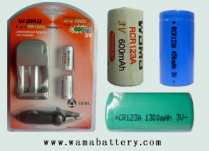 Rcr123A High-Performance 600mAh Li-ion Rechargeable Battery pictures & photos