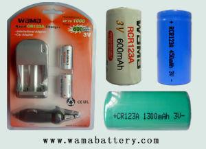 Rcr123A High-Performance 600mAh Li-ion Rechargeable Battery
