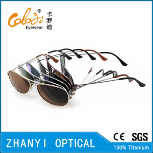 Latest Design Titanium Sun Glasses for Driving with Polaroid Lense (T3025-C6) pictures & photos