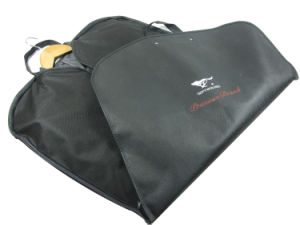 Non Woven Garment Bag for Suit with Plastic Handle Suit Cover (MECO250) pictures & photos