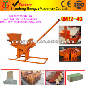 Manual Mini Type Cement Interlocking Brick Making Machine Qmr2-40 High Yield Clay Block Making Machine pictures & photos