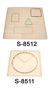 Educational Toy, Teaching Aid, Learning Resource, Transparent Square Geoboard (S-8511&S-8512)