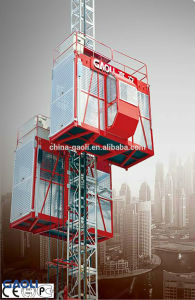 Double Cabin Rack and Pinion Construction Hoist (SC200/200) by Gaoli pictures & photos