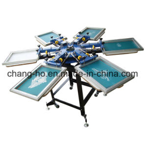 Six Color Silk Screen Printer for Garment pictures & photos
