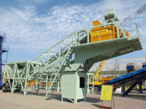 Hongda Good Quality 75m3/H Mobile Concrete Mixing Plant pictures & photos