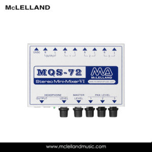 3 Channel Stereo Mini Mixer / Audio Mixer (MQS-72) pictures & photos
