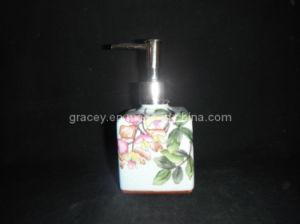 Hand Painted Ceramic Bathroom Accessories /Square Ceramic Bathroom Flask