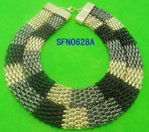 Fashion Jewelry for Women Statement Necklace Mesh Chain Necklaces with Different Vintage Jewellrey Set Necklace Fashion Jewelry (SFN0469A)