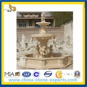 Egypt Beige Marble Stone Garden Water Fountain pictures & photos