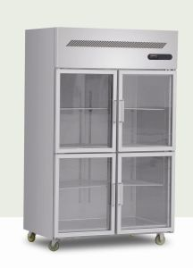 Four Doors Stainless Steel Beverage Showcase pictures & photos