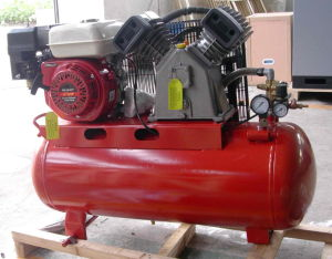 6.5HP Gas/Petrol Engine Compressor with 70L Tank pictures & photos