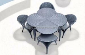 Rattan Table Chair Set/Outdoor Table Chair (7117) pictures & photos