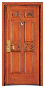 Steel Wooden Security Door (FXGM-A106) pictures & photos
