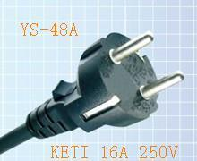 Power Cord Plug with Kc Certificated (YS-48A) pictures & photos