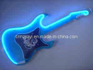 Blue Bulls Guitar Neon Clock