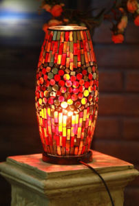 Mosaic Glass Lamp for Decoration