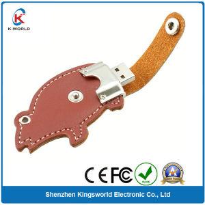 Leather Cartoon Swivel USB Flash Disk (KW-0238)