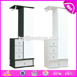 Wholesale High Quality Modern Wooden Full Length Mirror with Drawer Cabinet W08h082 pictures & photos