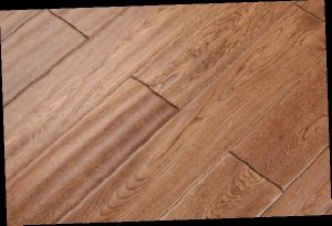 15mm Oak Handscraped Engineered Wood Flooring Uniclic Lock Natural Color OEM (LYEW 22) pictures & photos