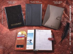 PU Notebook with Magnet Hook Interior Pocket and Slots (TG108) pictures & photos