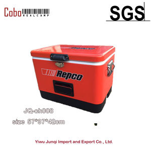 51L Metal Ice Cooler Box with Bluetooth Speakers Cooler Quality Choice