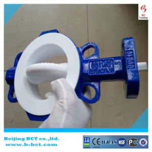 PTFE Seat Wafer Type Semi-Lug Butterfly Valve Bct-F4bfv-3 pictures & photos