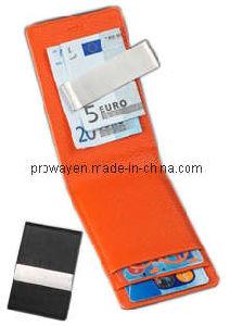 Leather Money Clip Credit Card Holder (MC2002)