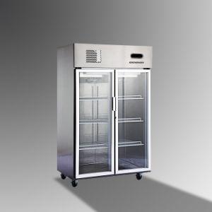 Glass Door Restaurant Equipment Stainless Steel Freezer pictures & photos