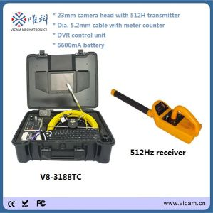 Waterproof Sewer Pipe Inspection Camera with Meter Counter and Trasnmitter (V8-3188TC) pictures & photos