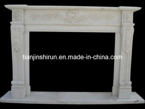 Marble Flower Fireplace (7352) pictures & photos