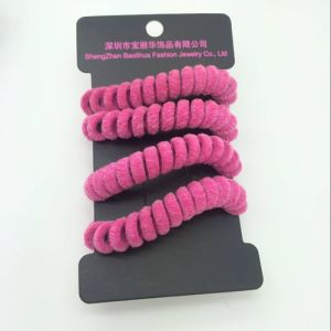 Winter Collection Flocking Material Telephone Cord Hairbands pictures & photos