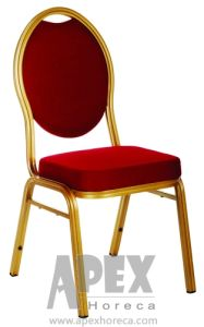 Aluminum Hotel Furniture/Banquet Chair with Fabric Cushion pictures & photos