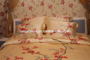 Hand Painting Silk Bedding Set (SBH002)