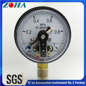 Electric Contact Pressure Gauge with Upper and Lower Limit pictures & photos
