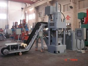 Hydraulic Briquetting Press Sbj500 with Conveyor B500 pictures & photos
