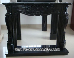 Stone Fireplace Shanxi Black pictures & photos