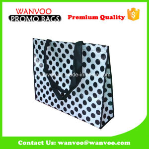 90GSM Nonwoven Shopper Bag with Polka Pattern pictures & photos
