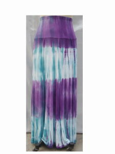 Women′s Jersey Tie-Dyed Long Skirt (3L13493)