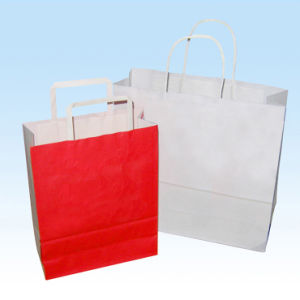 Eco-Friendly White Kraft Paper Bags pictures & photos