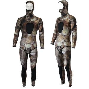 Diving Suit, Wetsuit, Sportwear, Neoprene Wetsuit, Swimwear, Waterproof, Rubber-Coated, Camouflage, Wm-0006
