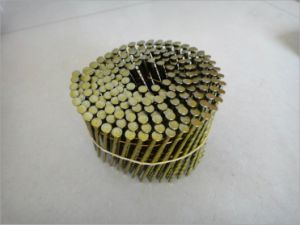 Yellow Coating Coil Nail with Material Q235 for Pallets Manufacturer pictures & photos