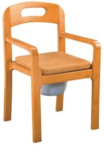 Wooden Commode Chair with Armrest and Backrest (SC-CC14(W)) pictures & photos