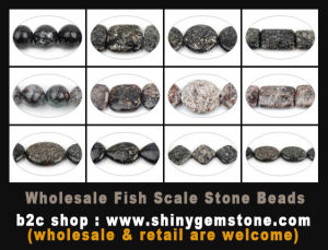 Fish Scale Stone Beads Gemstone Jewelry