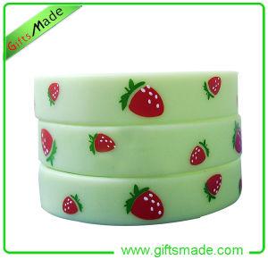 Cute Strawberry Printed Silicon Wristband