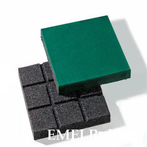 Square Flat Bottom Rubber Tile pictures & photos