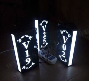 Hotel Room Door Number Illuminated LED Light Sign Stainless Steel Etched Plaques pictures & photos