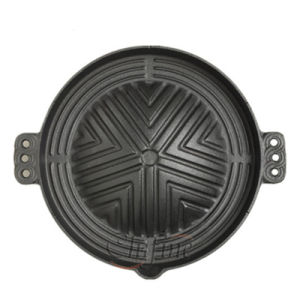 Customized Enamel Cast Iron Pan Support pictures & photos